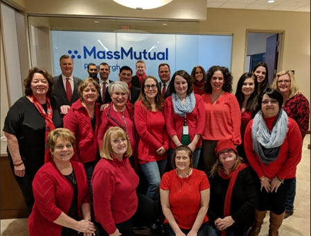 MassMutual Pittsburgh team red day.